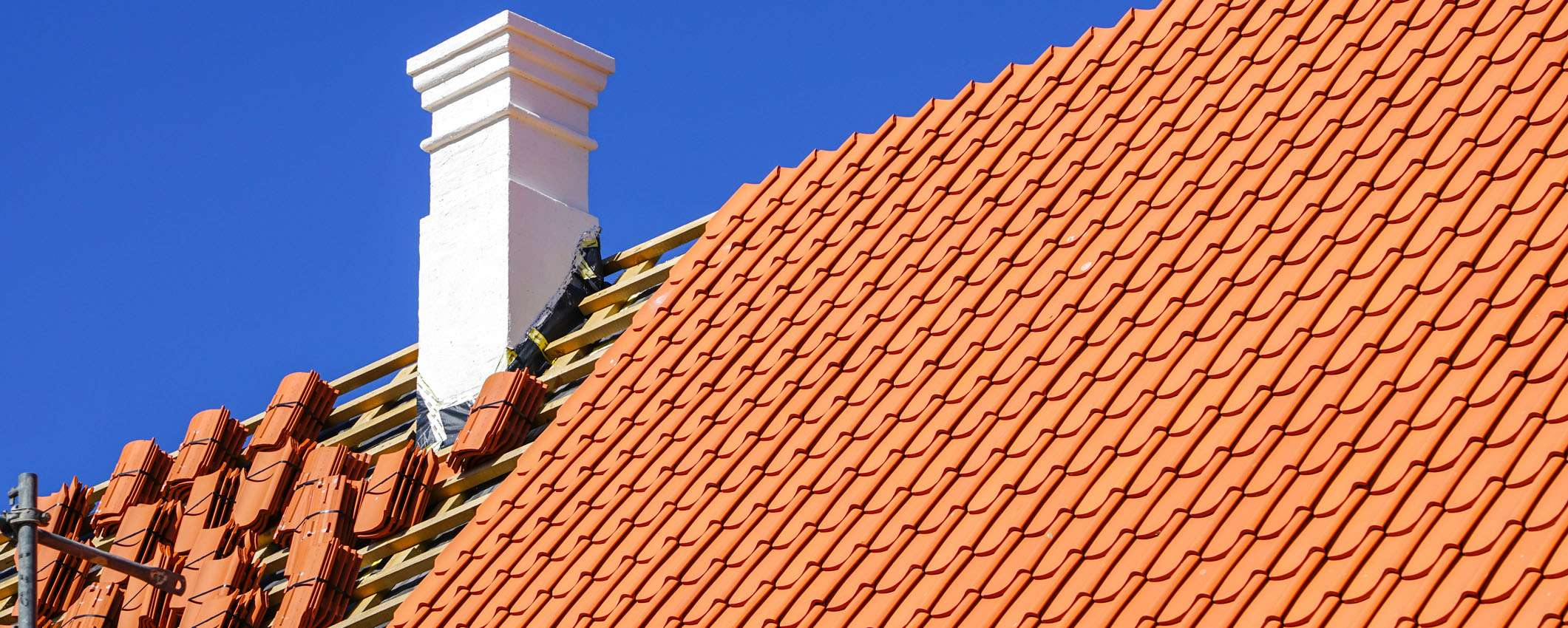 Incomplete Shingles Roof